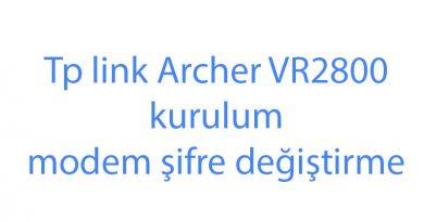 Tp link Archer VR2800 kurulum modem şifre değiştirme