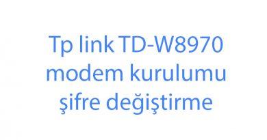 Tp link TD-W8970 modem kurulumu şifre değiştirme