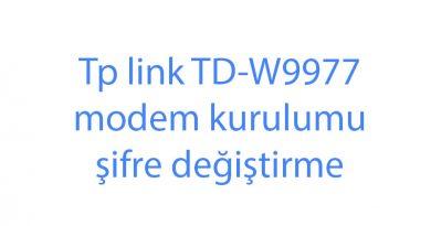 Tp link TD-W9977 modem kurulumu şifre değiştirme