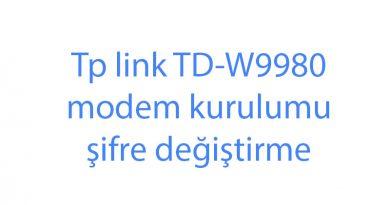 Tp link TD-W9980 modem kurulumu şifre değiştirme