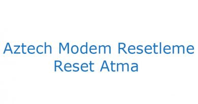 Aztech modem reset atma resetleme