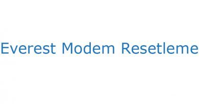 Everest Modem Resetleme