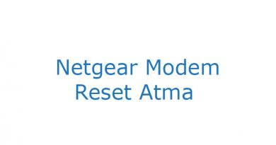 Netgear modem reset password
