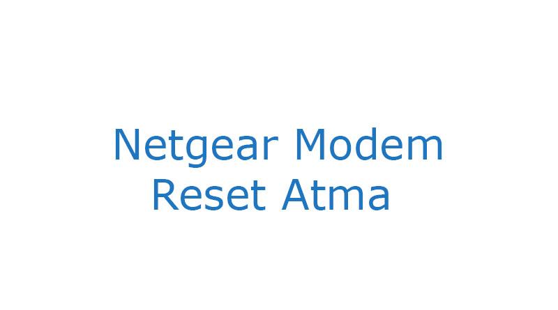 Netgear modem reset password