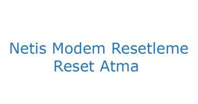 Netis modem reset