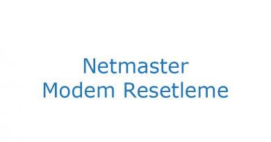 Netmaster Modem Resetleme