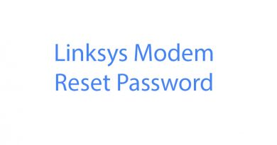linksys modem reset password