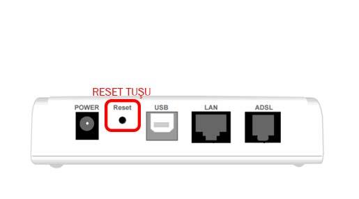 modem resetleme