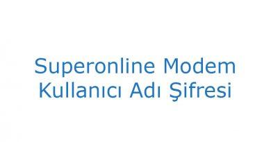 Superonline Modem Kullanıcı Adı Şifresi