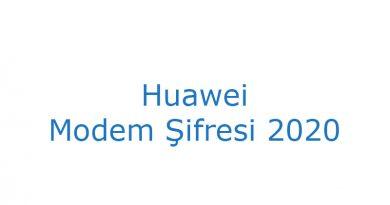 Huawei modem şifresi 2020