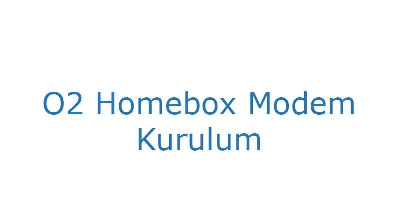 O2 Homebox Modem