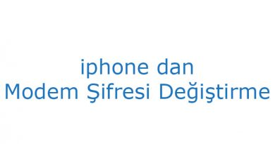 iphone dan modem şifresi değiştirme